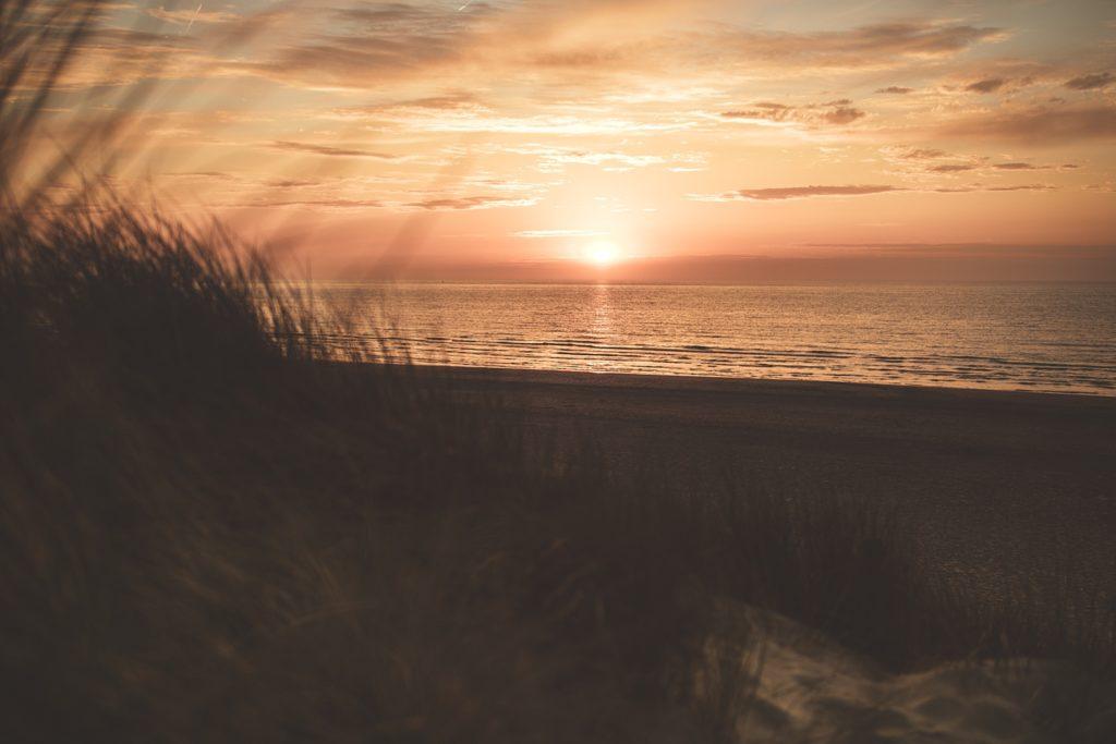 Séance photo à la plage bray dunes coucher de soleil